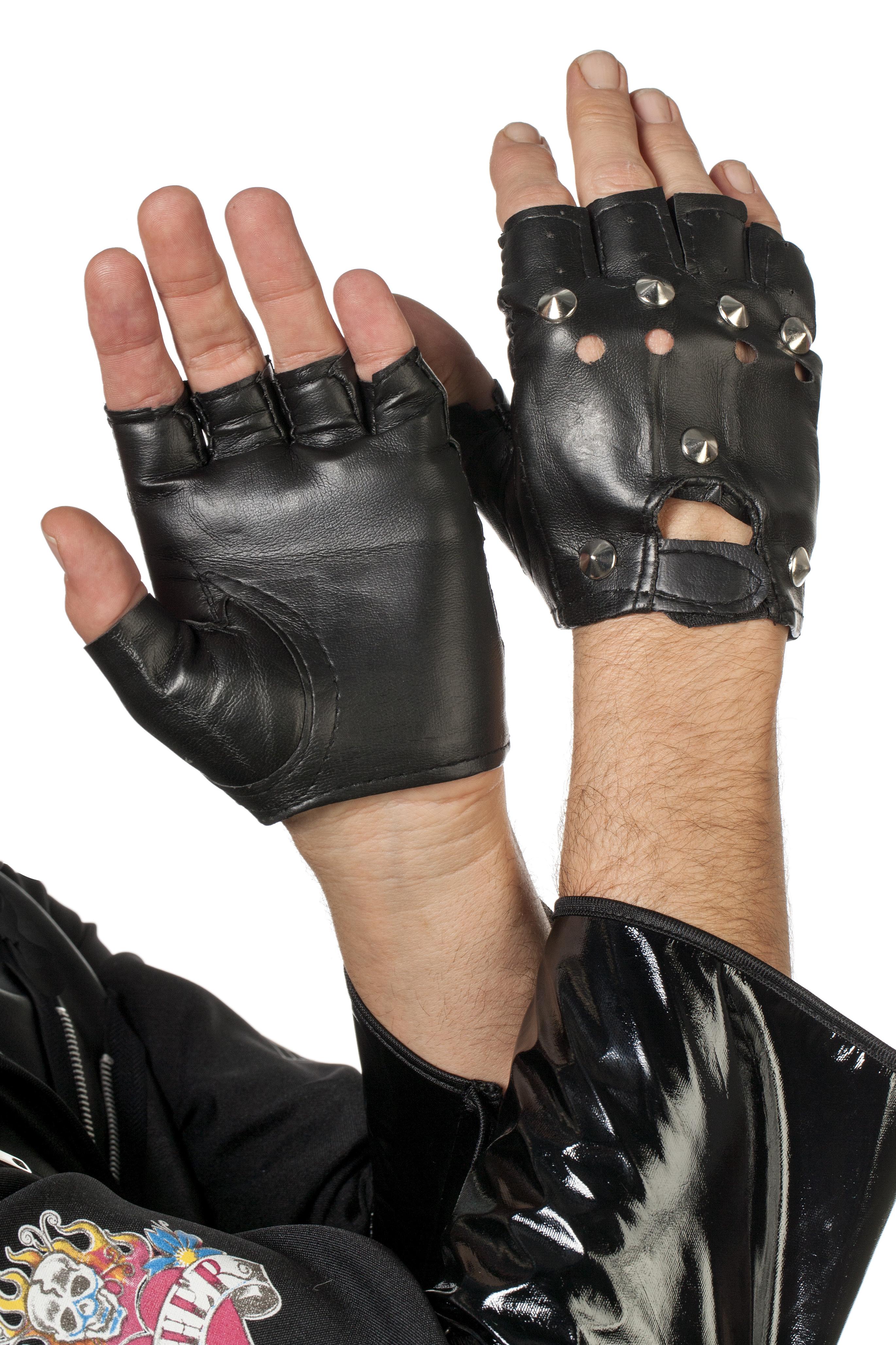 Punk Handschoen skai