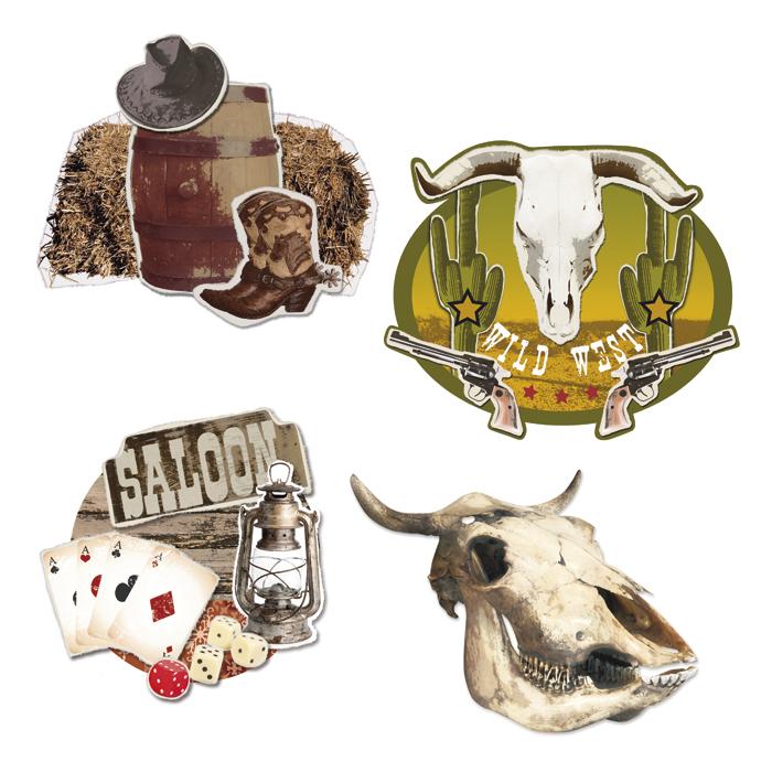 Decoration Wild West wordt per stuk en per model geleverd