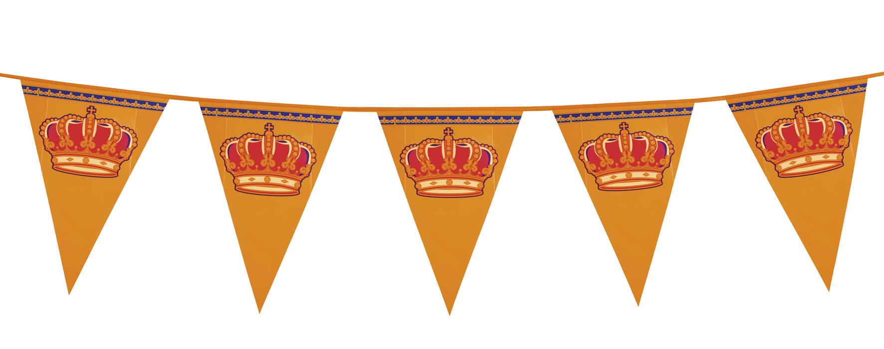PE reuzen vlaggenlijn Koningsdag (8 m)
