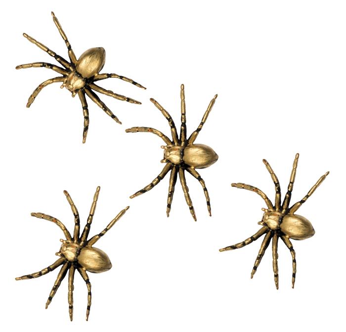 Set 4 Spinnen (5 x 8 cm)