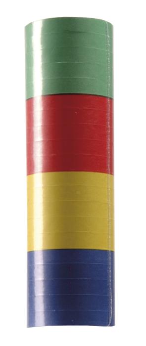 Rol serpentines 4 kleuren (4 m) per rolletje