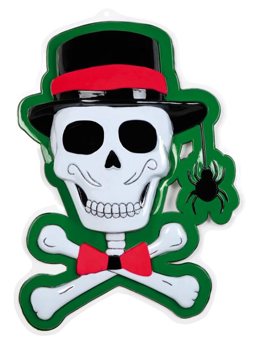 Wanddecoratie Skull party (75x54cm)
