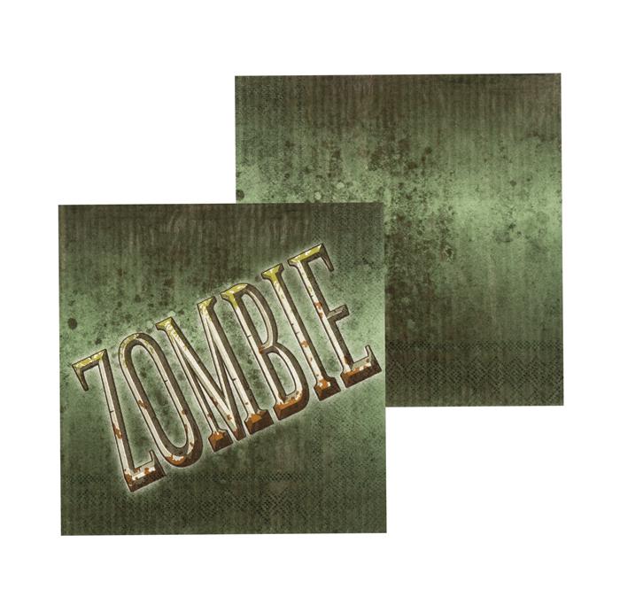 Set 12 Servetten Zombie (33 x 33 cm)