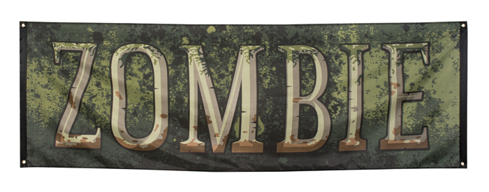 Polyester banner Zombie (74 x 220 cm)