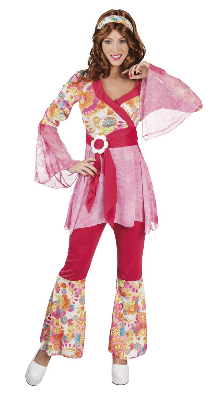 Happy diva hippie kostuum voor dame