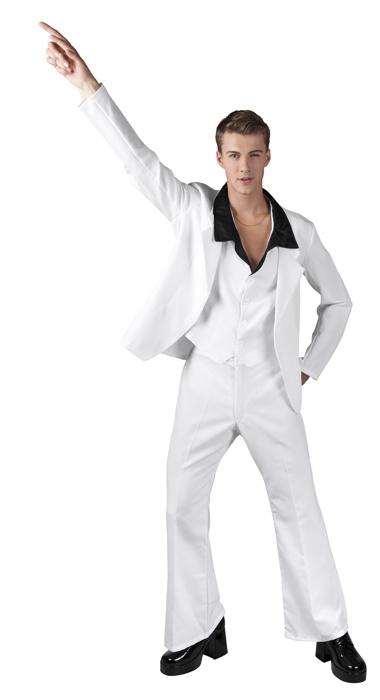 Disco fever wit travolta kostuum voor heer