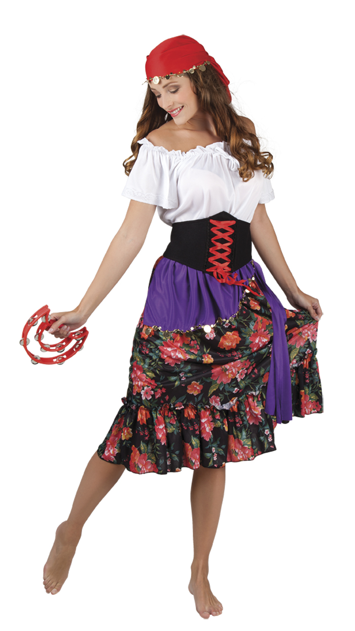 Gypsy Rilana zigeunerin kostuum voor dame
