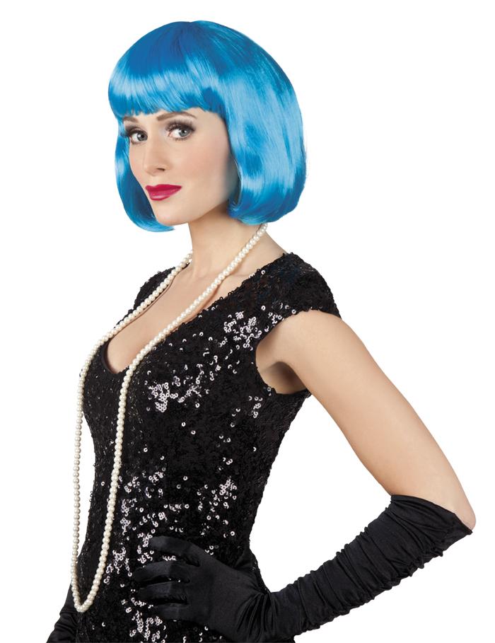Pruik Cabaret bobline icy blue
