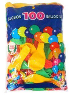 Helium ballon rood/geel/groen 100 stuks
