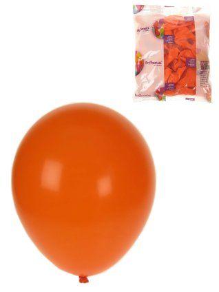 Helium oranje ballonnen 100 stuks