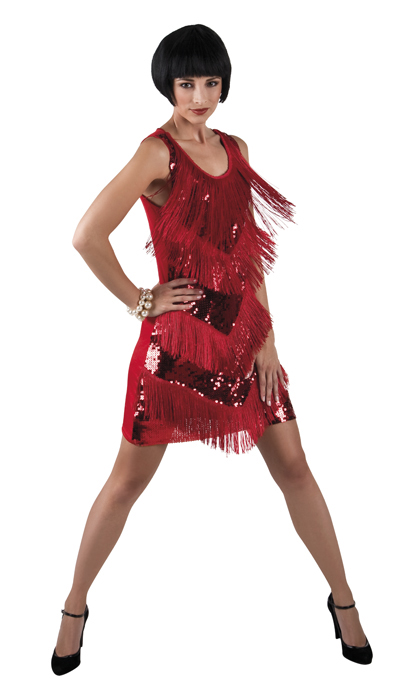 Flapper rood Chicago jurk voor dame
