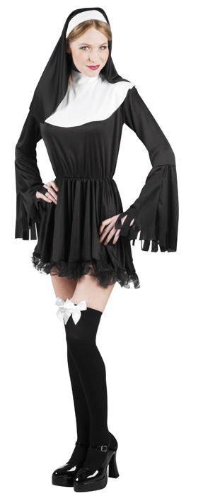 Ondeugende nonnen jurk voor dame (M)