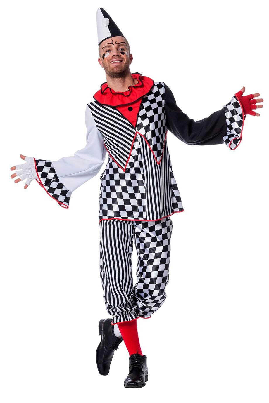 Clown domino voor heer