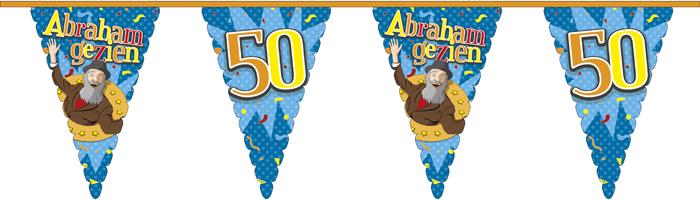 Reuzen vlaggenlijn Abraham gezien 45x30cm 6m