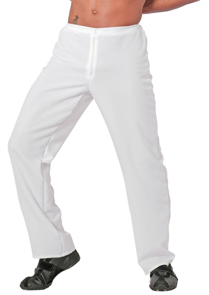 Broek classic model wit voor heer