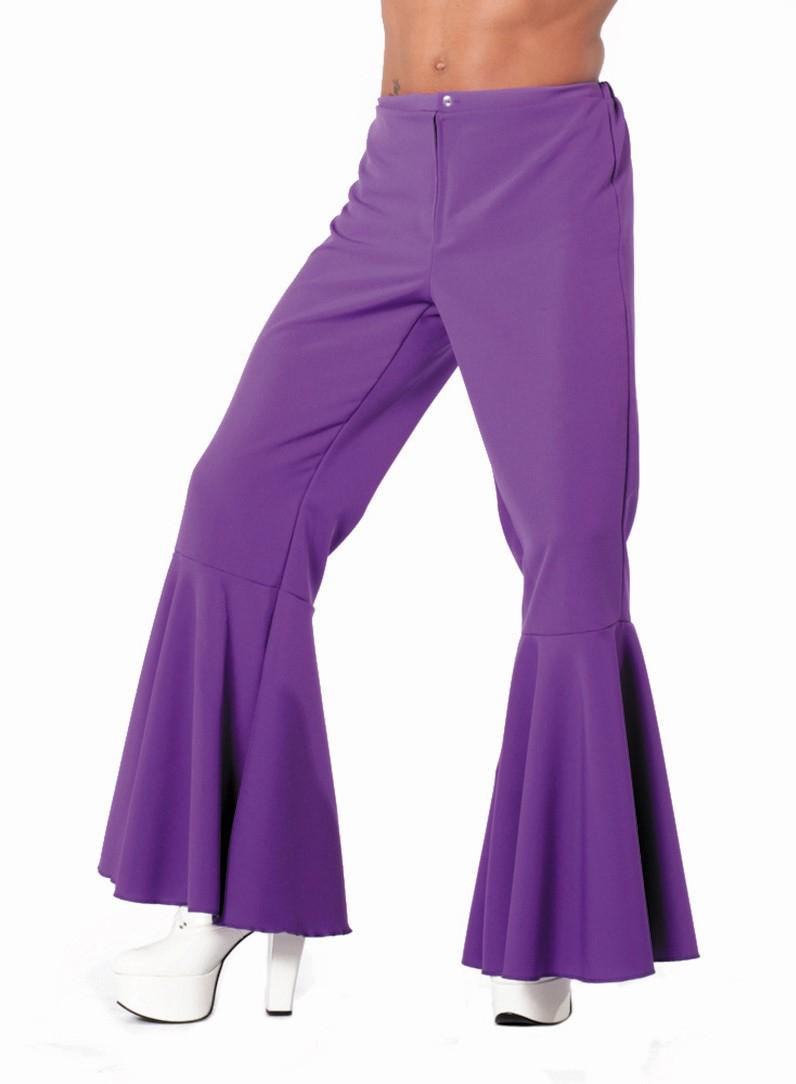 Hippie broek paars voor heer