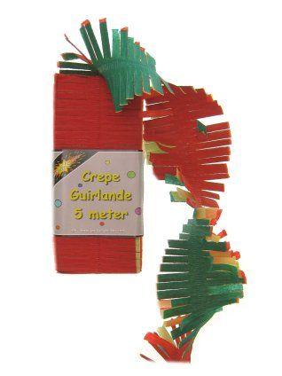 Crepe slinger rood/geel/groen 5m