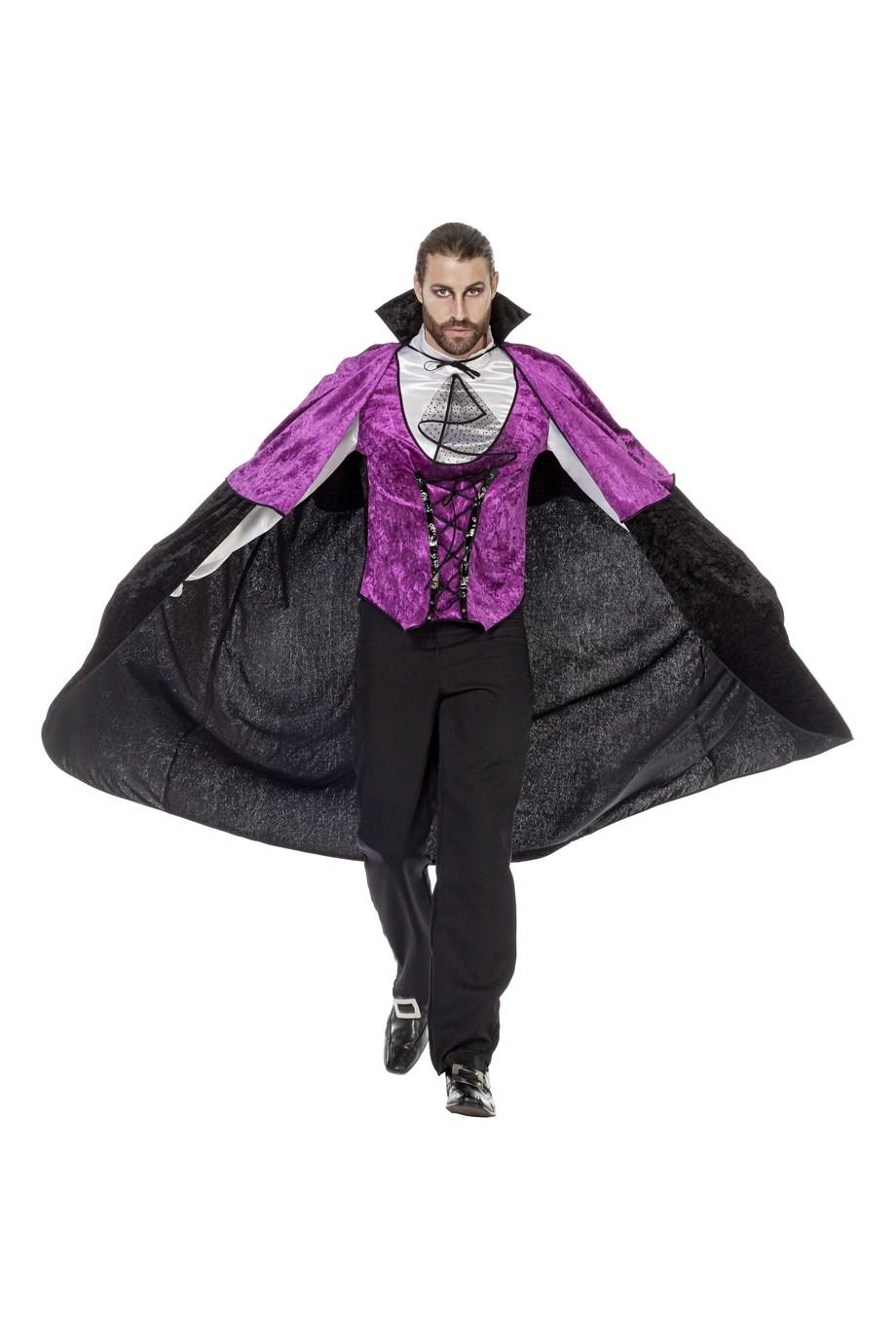 Gothic hes en cape paars voor heer
