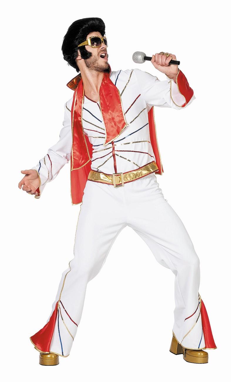 Elvis kostuum met sjaal voor heer