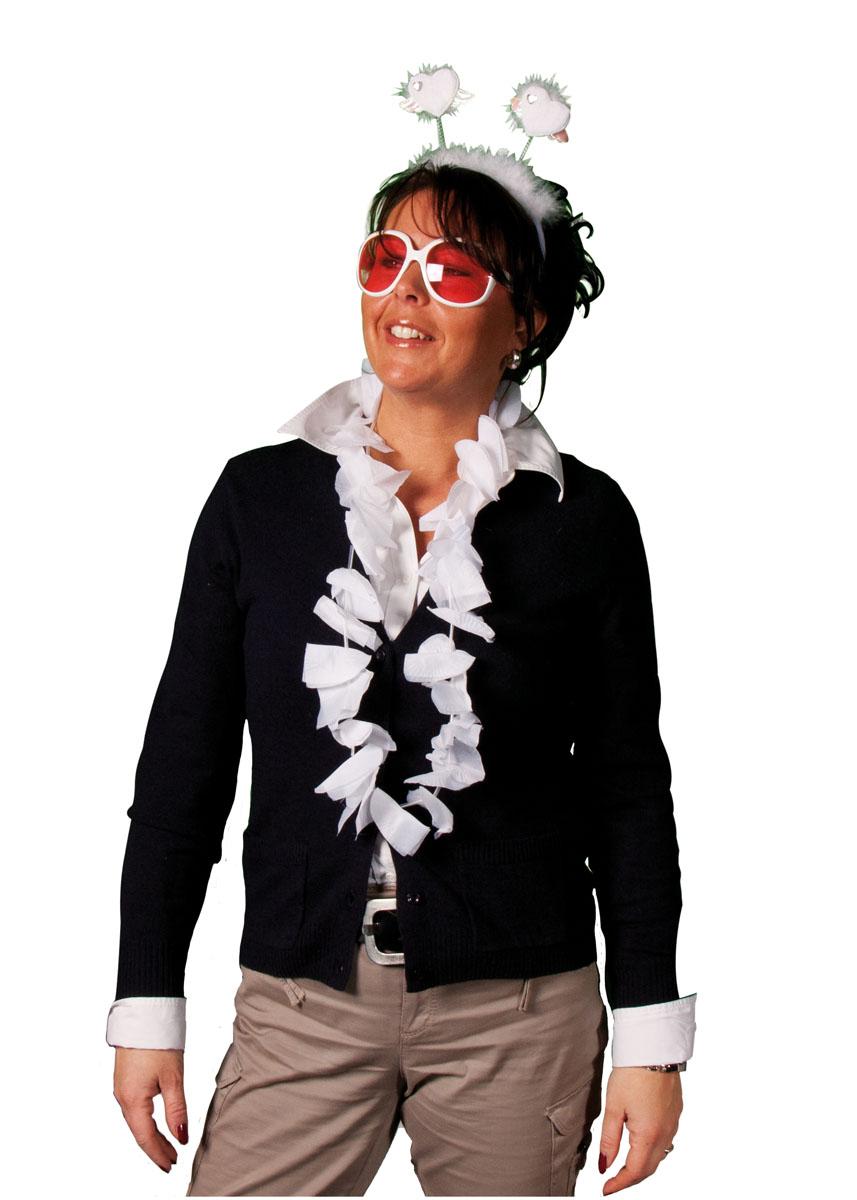 Hawai Krans Hartvorm, wit