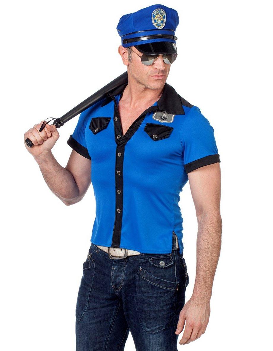 Politie agent t-shirt voor heer
