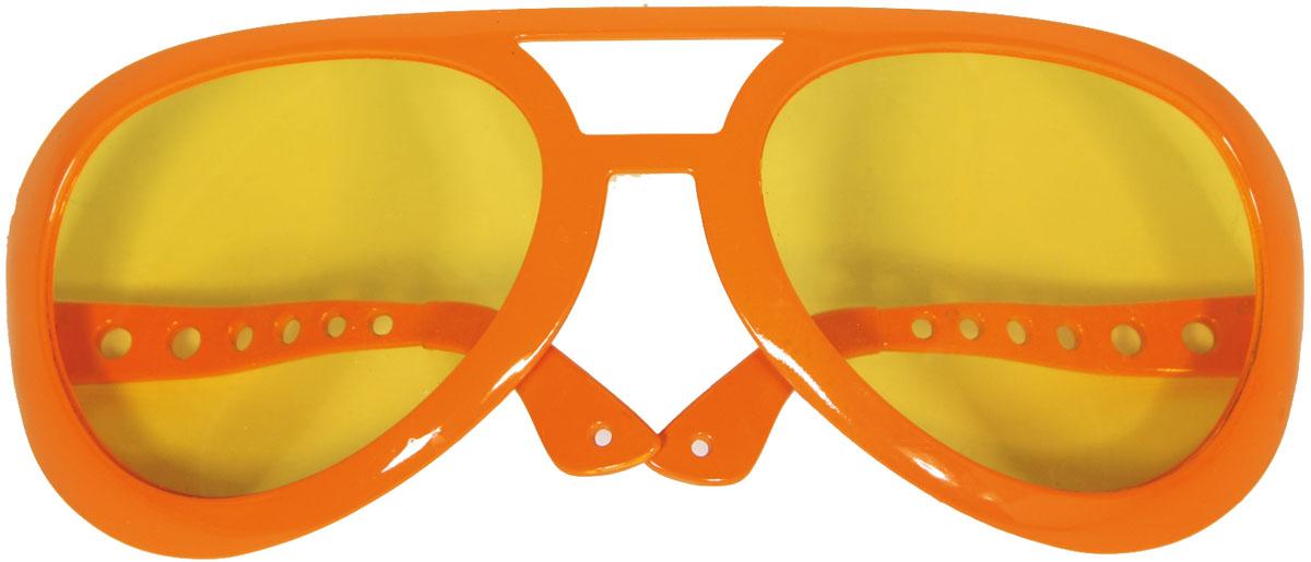 Bril Mega Elvis Oranje