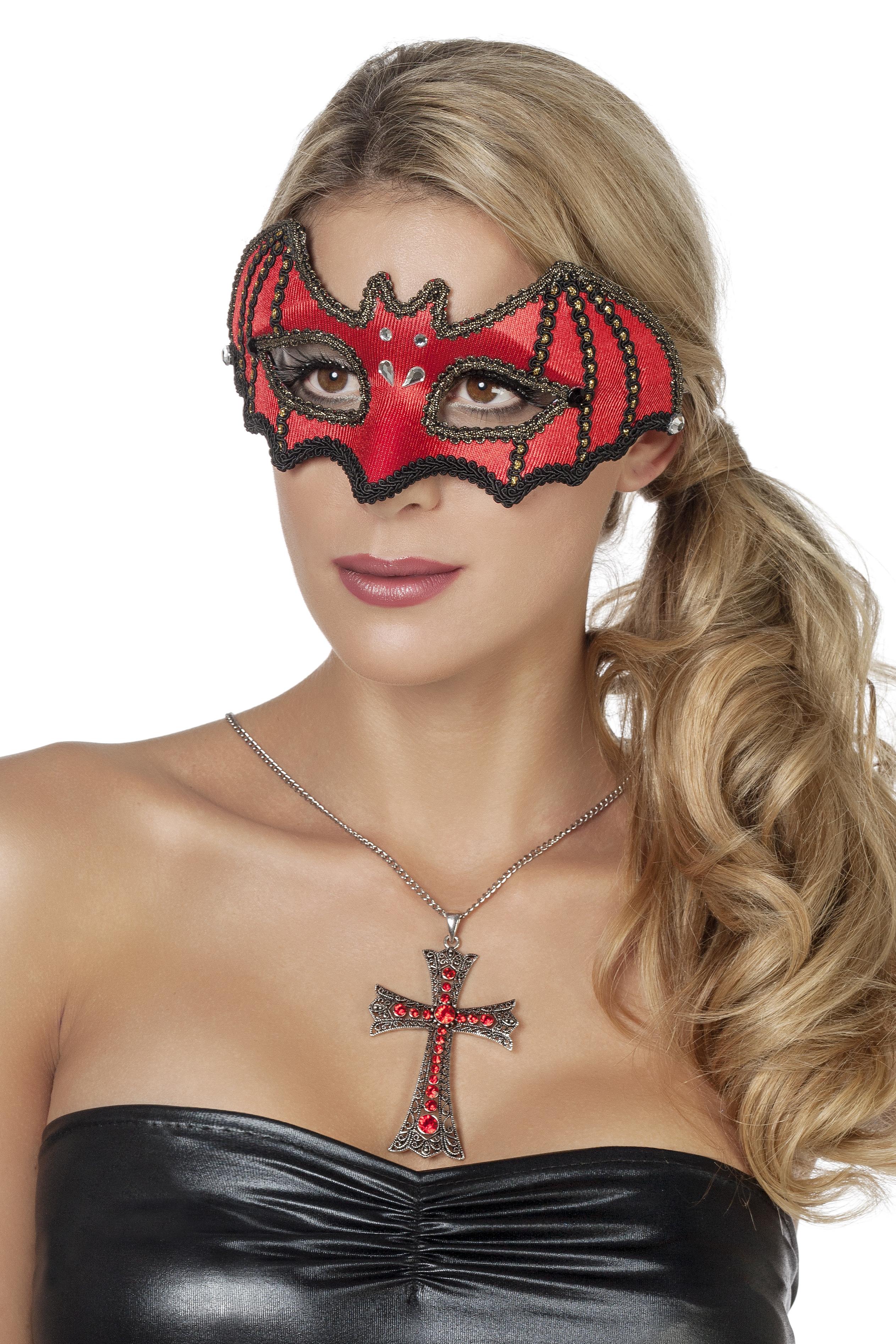Masker vleermuis rood