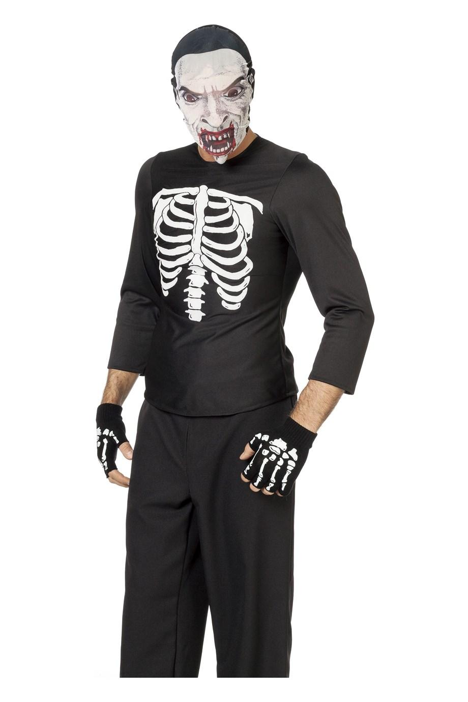 Skelet blouse/hes voor heer