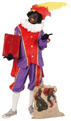 Piet plushe rood/paars (mooie kwaliteit voor buiten)