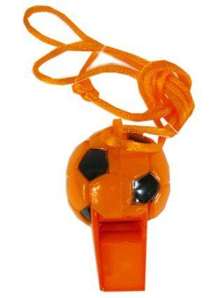 Oranje voetbal fluit