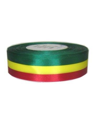 Medaille lint rood/geel/groen 25 meter op rol 25 mm