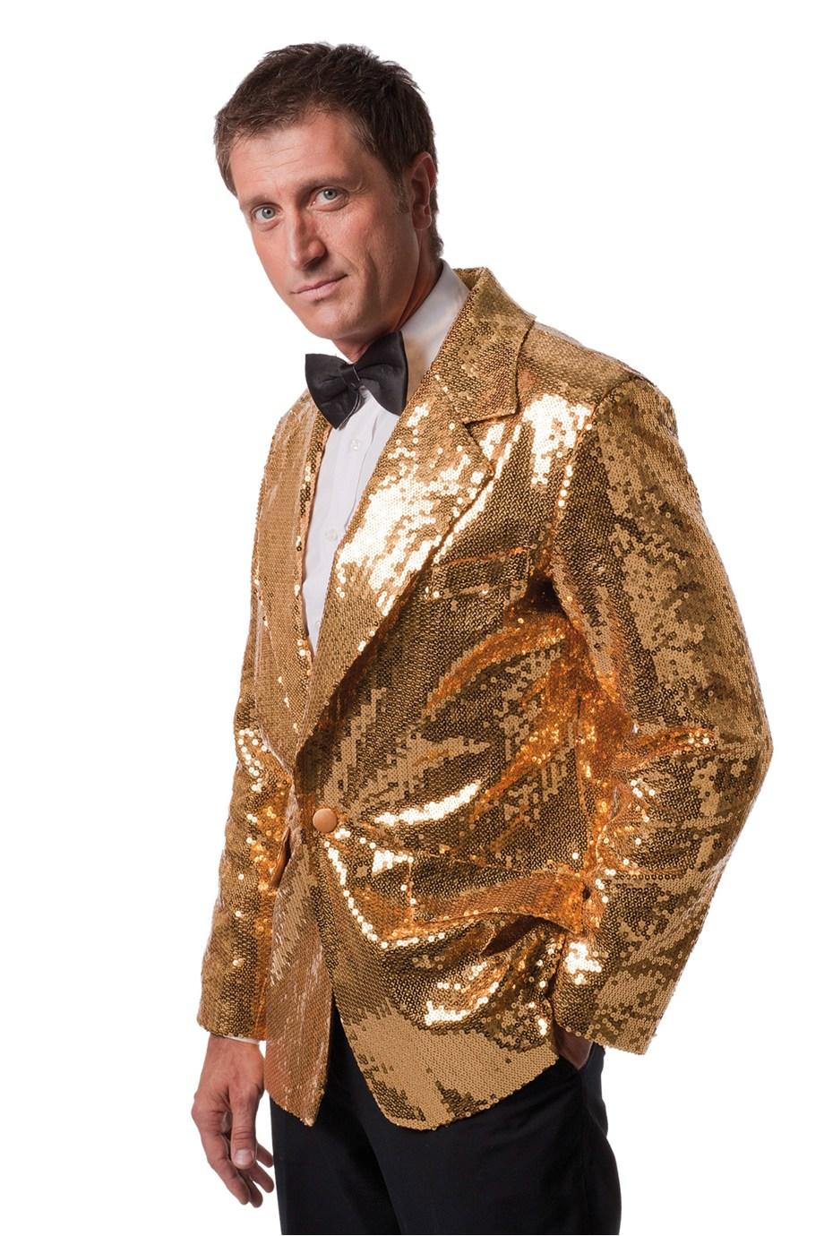 Colbert met gouden pailletten de luxe voor heer
