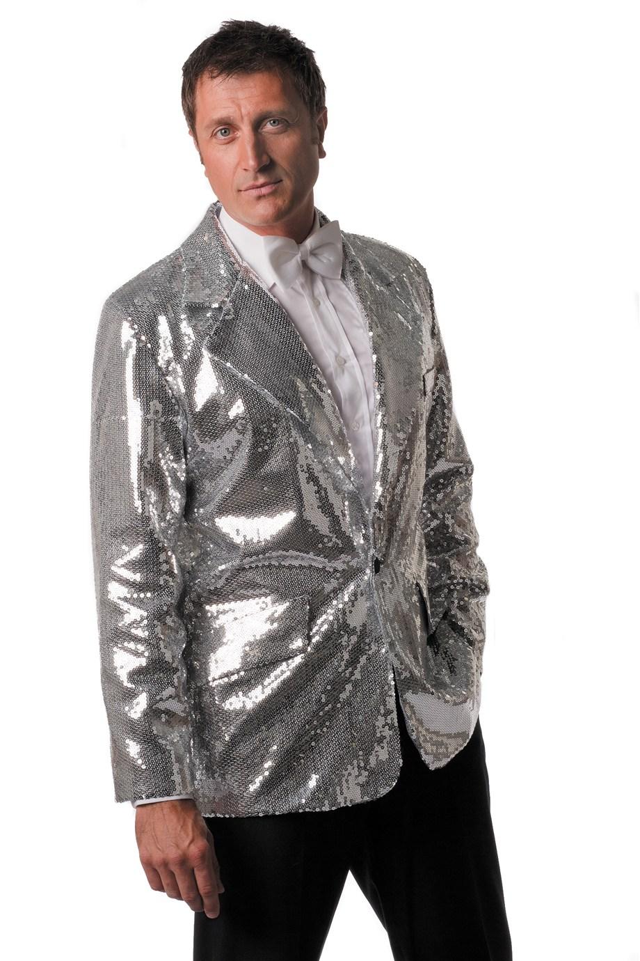 Colbert met zilveren pailletten de luxe voor heer