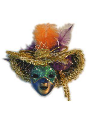 Broche venetiaans met hoed en veren