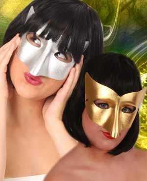 Oogmasker vivi goud of zilver