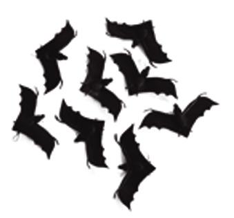 Vleermuis of spin wordt per 8 stuks en per model geleverd