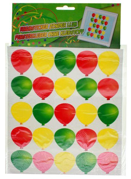 Adhesive (raamsticker) ballonnen 35x50cm