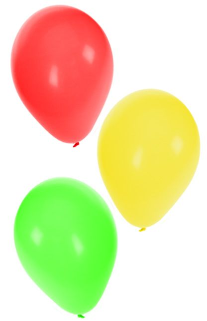 Ballonnen rood/geel/groen helium per 36st