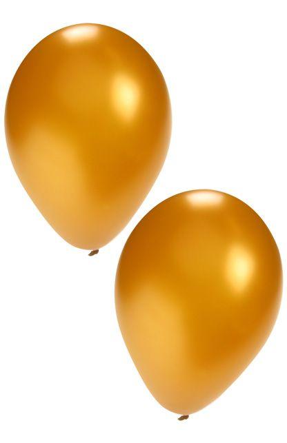 Helium ballonnen goud 50 stuks