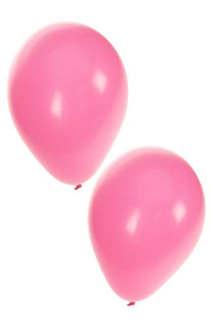 Helium ballonnen babyroze 50 stuks