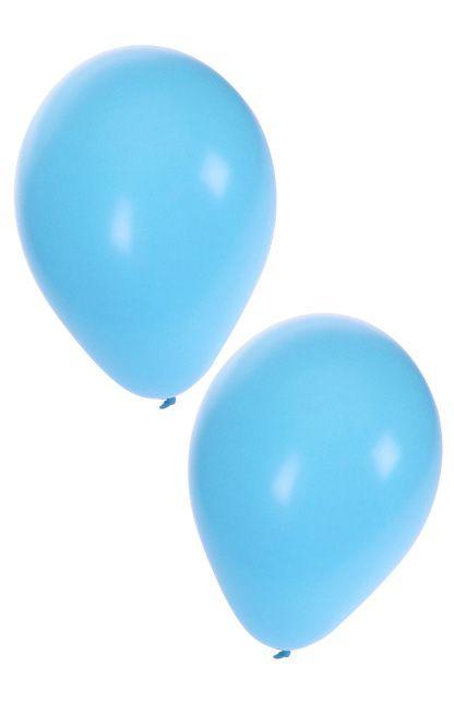 Helium ballonnen licht blauw 50 stuks