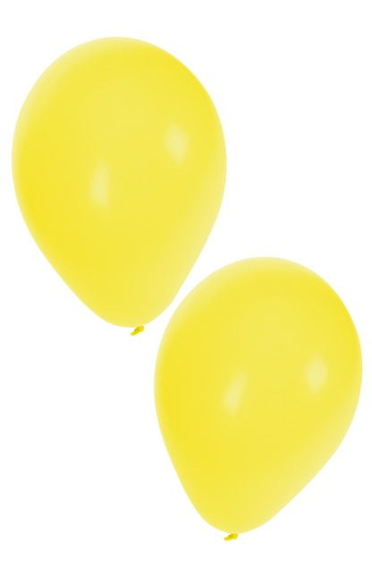 Helium ballonnen geel 50 stuks