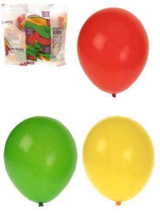 Helium ballonnen rood/geel/groen per 50 stuks