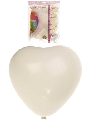 Hart ballon helium 100 x wit 30cm