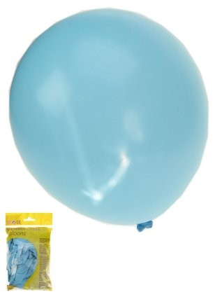 Ballonnen baby blauw per 50 stuks