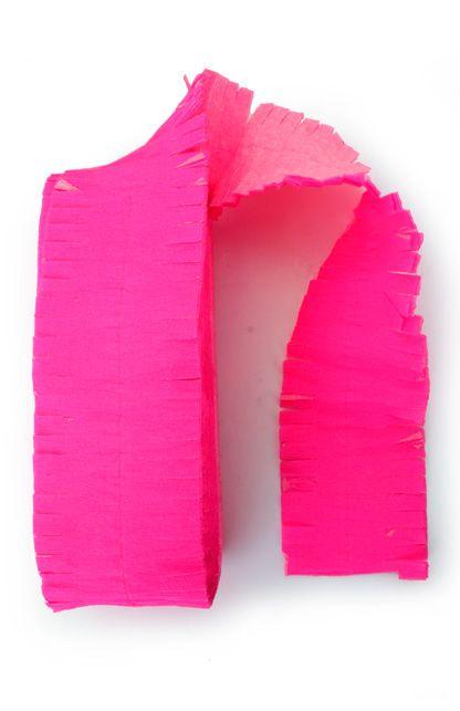 Crepe guirlande brandveilig fluor roze 24m