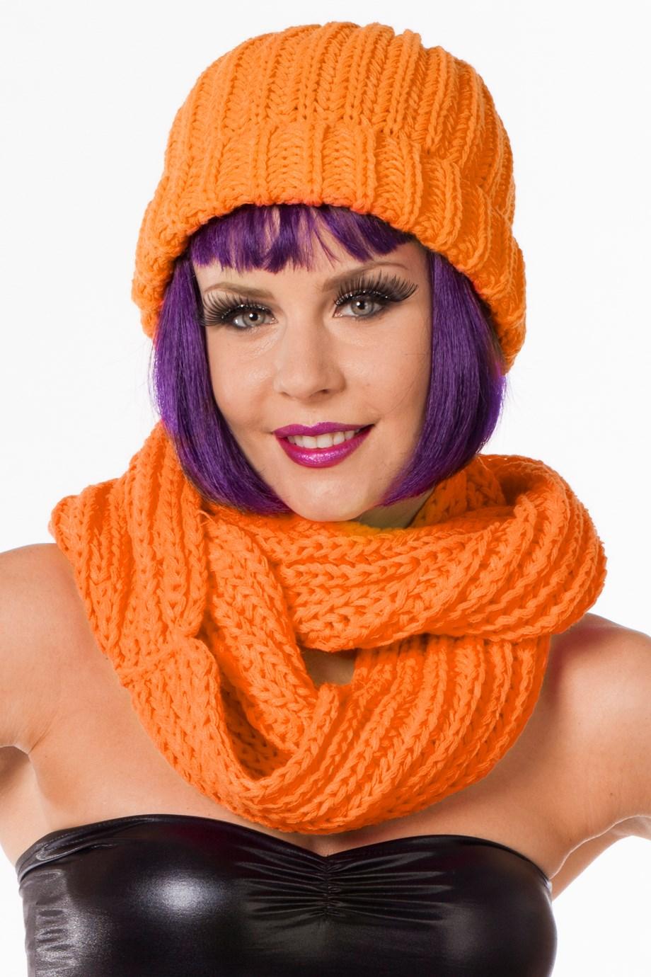 Muts Neon-oranje