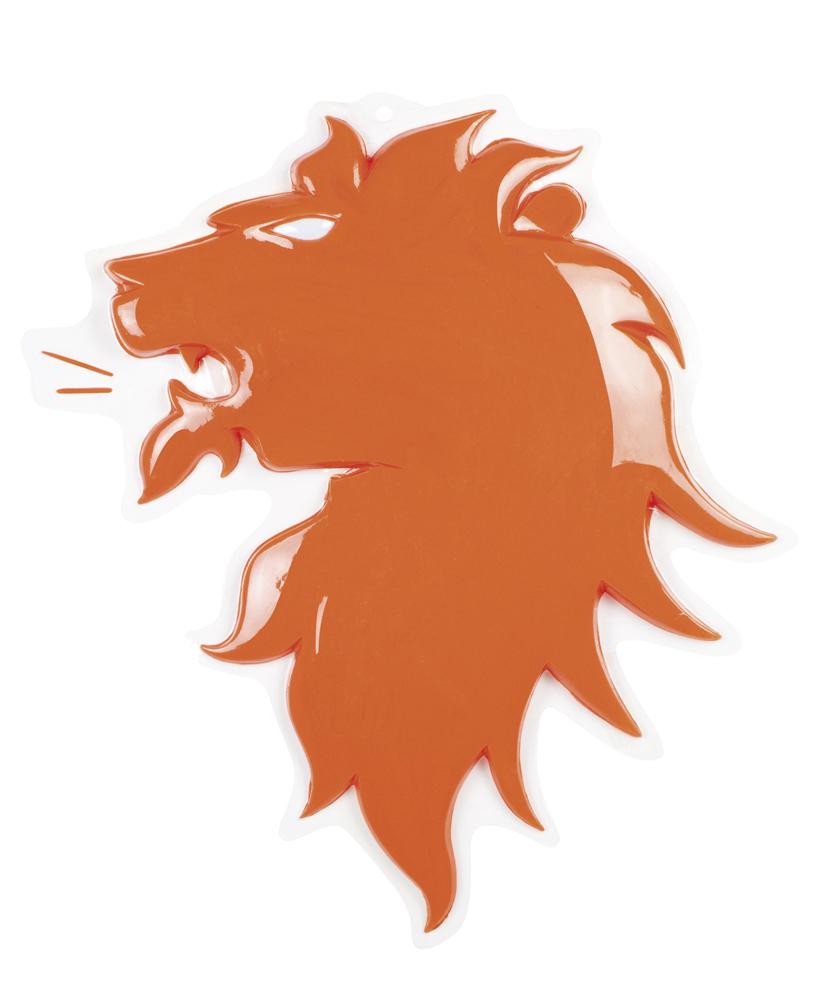 Wand decoratie oranje leeuw