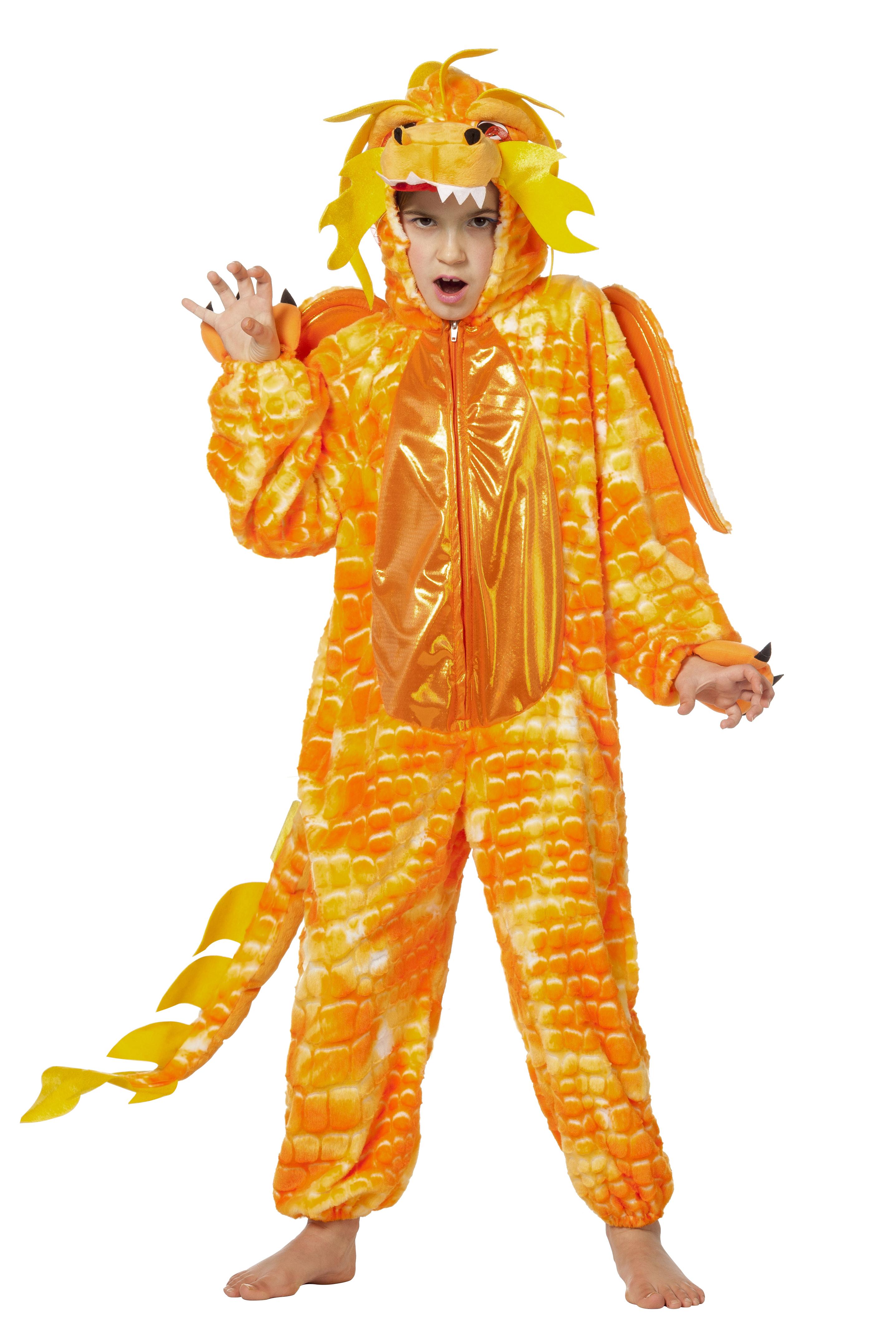 Chinese draak oranje onesie voor kind