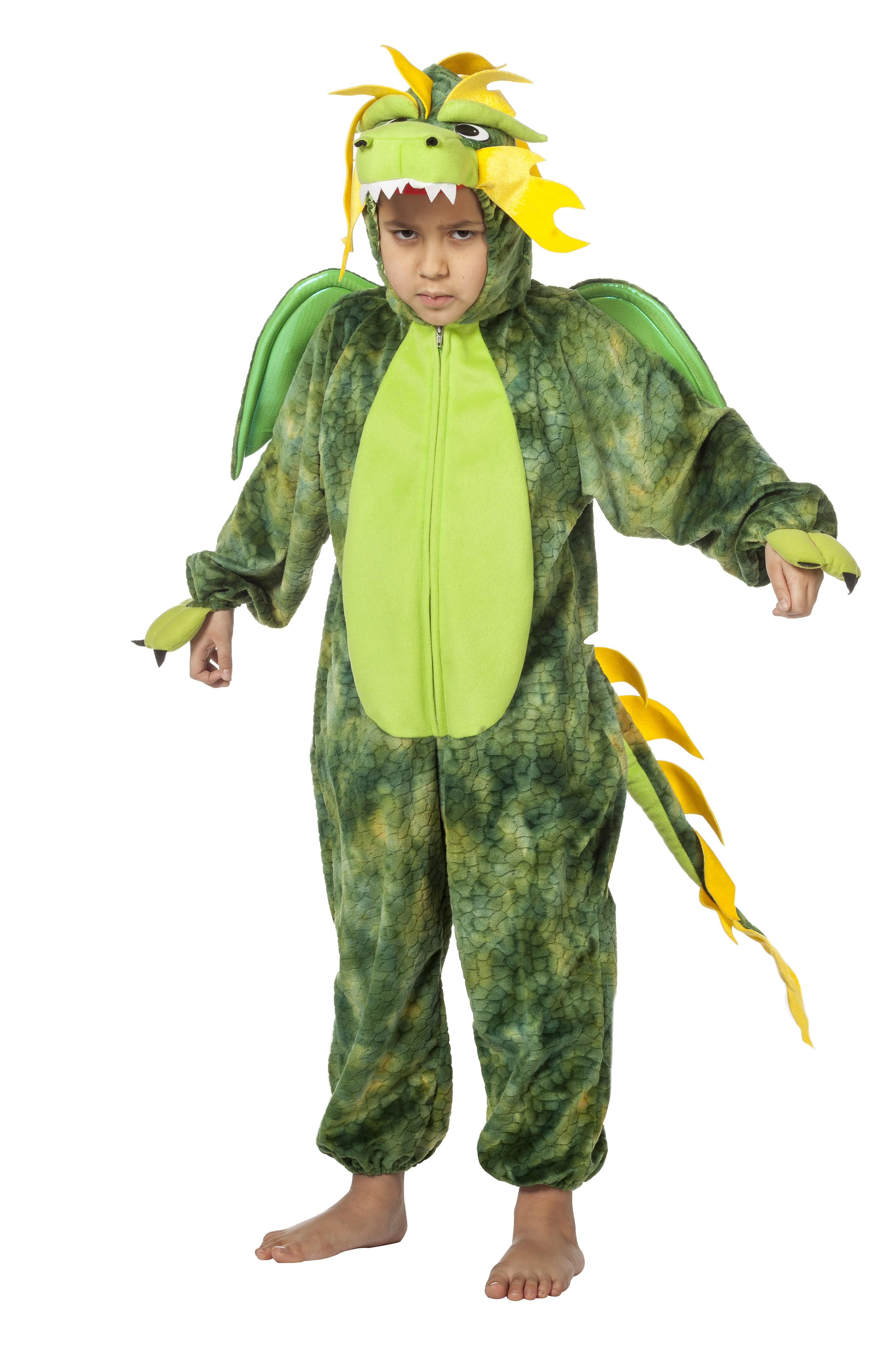 Draak groen onesie voor kind